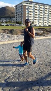 Jogging with my son